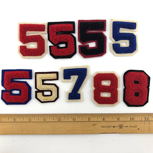 Small Chenille Single Numbers