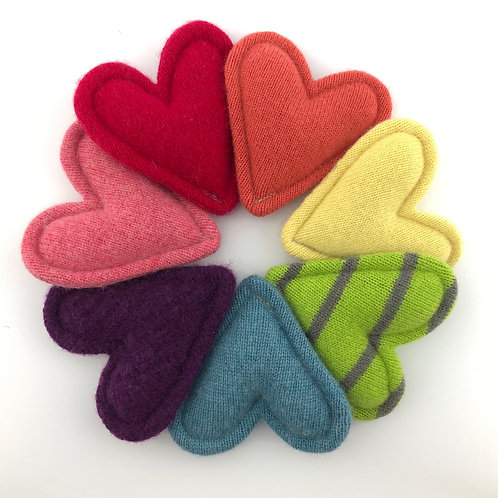 Cashmere Pocket Hearts Set of 7