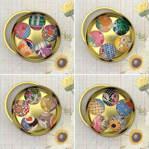 Super Magnets - Vintage Quilt Fabrics