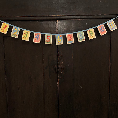Vintage Playing Card Banner - Mini Crazy Eights