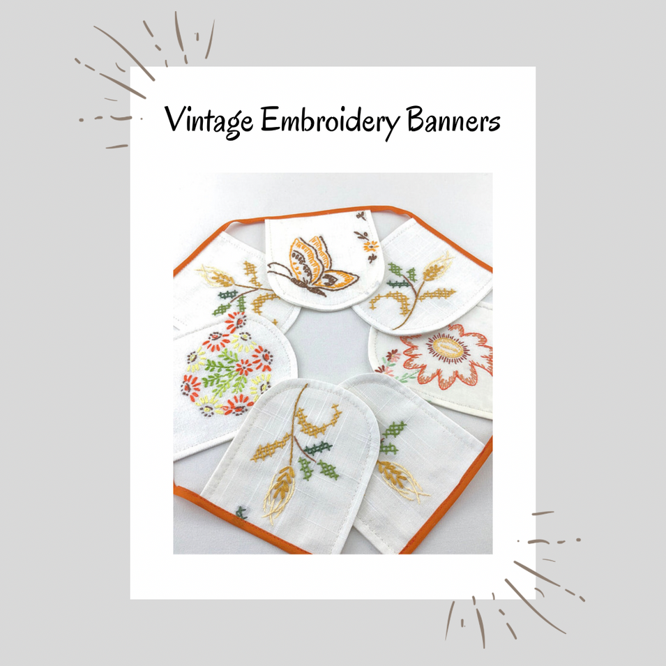 Vintage Embroidery Banners