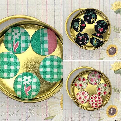 Super Magnets - Vintage Fabric