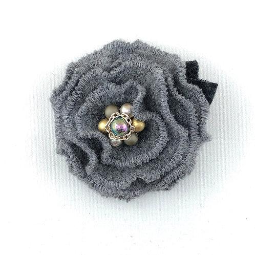 Ruffle Flower Felted Wool Pin