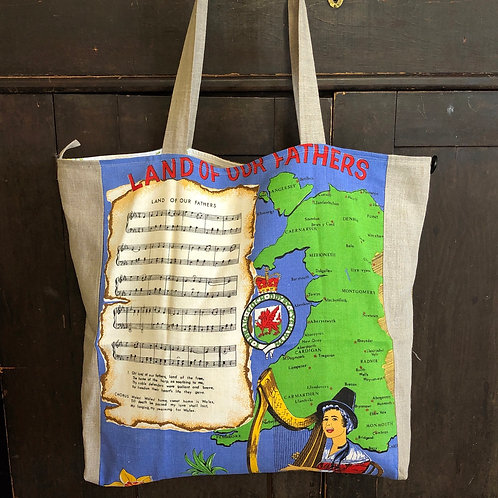 Plaid Farmer Tote - Land of Our Fathers