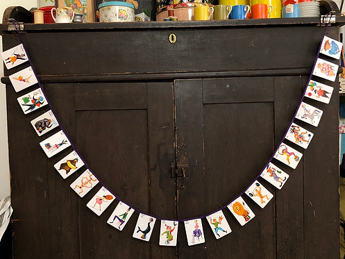 Vintage Playing Card Banner - Old Maid at the Circus