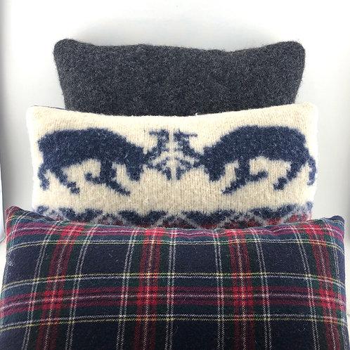 Vintage Wool Pillows - Set of 3