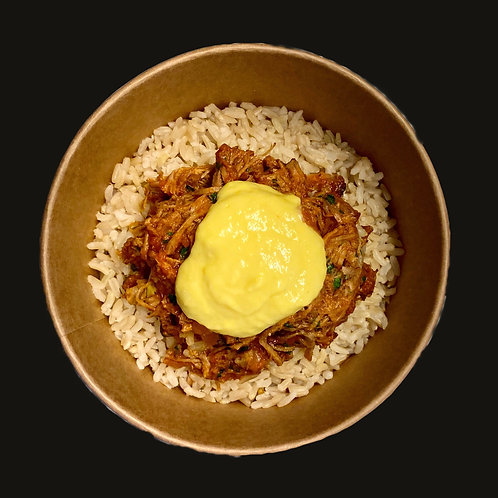 Pulled Pork with Root Beer and Sweetcorn Puree