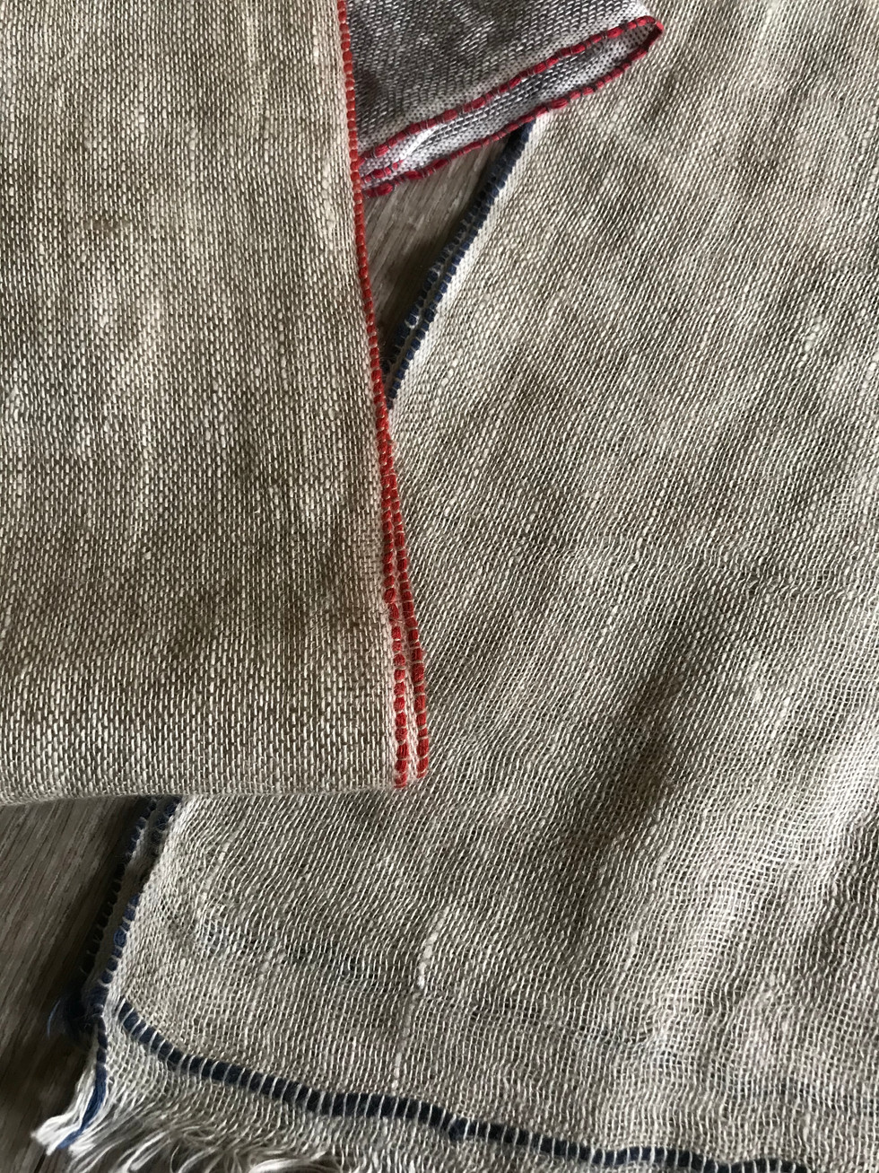 100% Linen Scarf # 18855