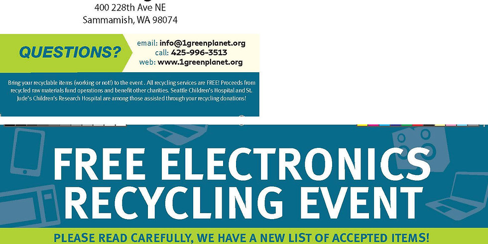Fall Fastpitch Fundraiser - Electronics Recycling Event - October 5th @ EHS