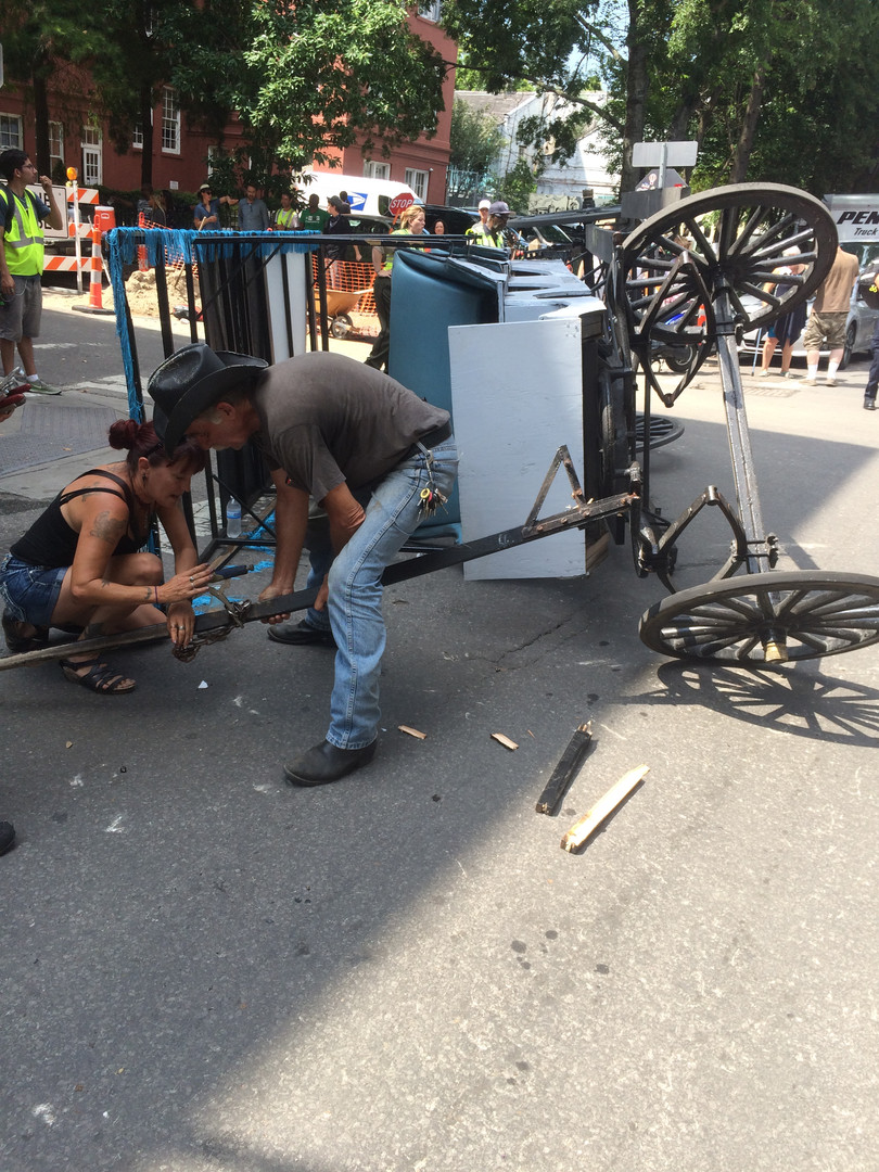 Real accident in French Quarter