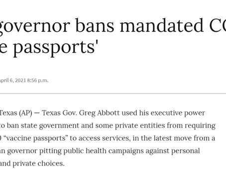 MDL REPORT- Le Texas dit NON aussi au passeport satanique.