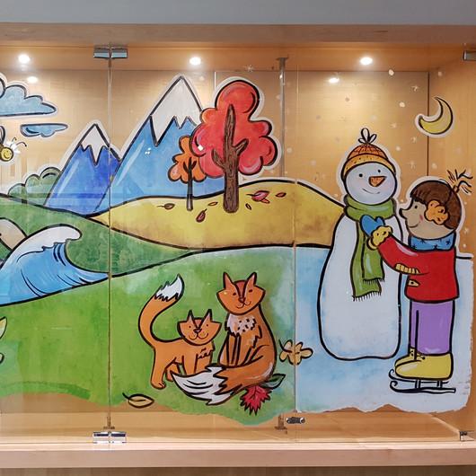 4 Seasons Window Mural
