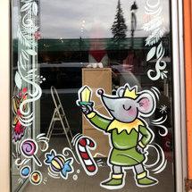 Nutcracker Window Painting for Brio Bodywear {Glebe}