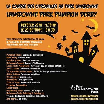 4th Annual Lansdowne Park Pumpkin Derby