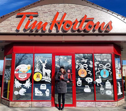 Tim Horton's Window Painting