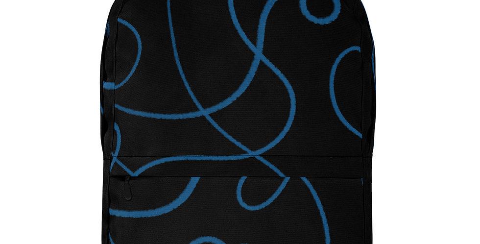 Black + Blue Backpack