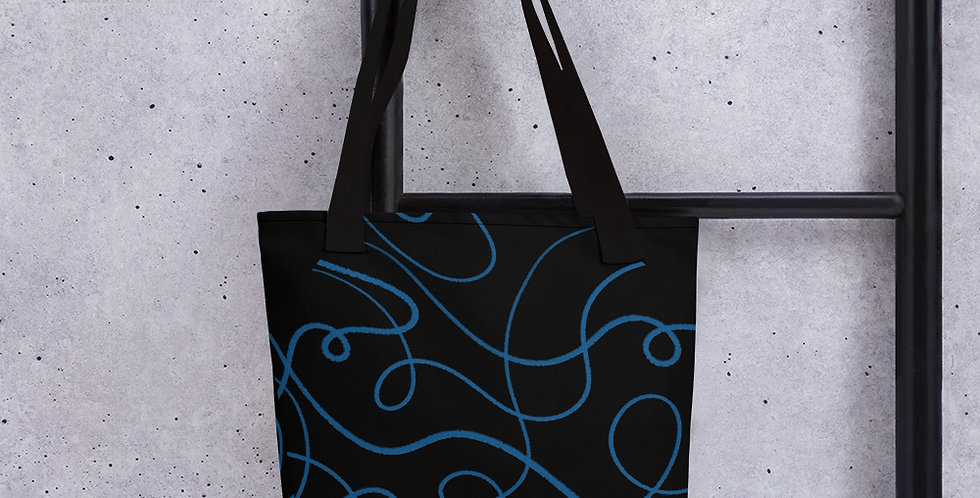 Black + Blue Tote bag