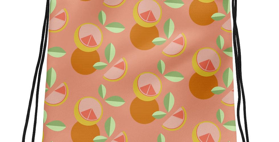 Citrus Splash Drawstring Bag