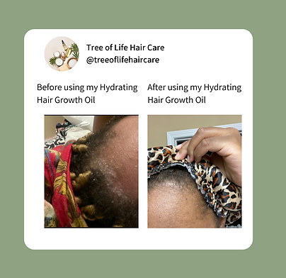 TLHC Hydrating Hair Growth Before & Afte