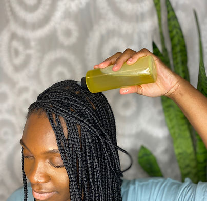 Customer Using our Hydrating Hair Growth Oil