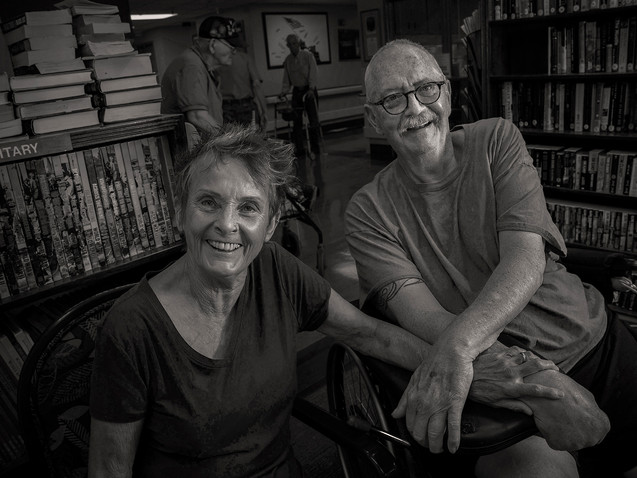 Leslie McCumber, 72 and Skip Nadeau, 73, U.S. Air Force 1967 - 71.