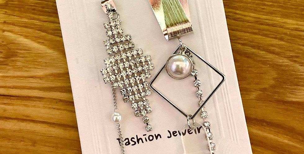 Sterling Silver Sparkle Drop Earrings