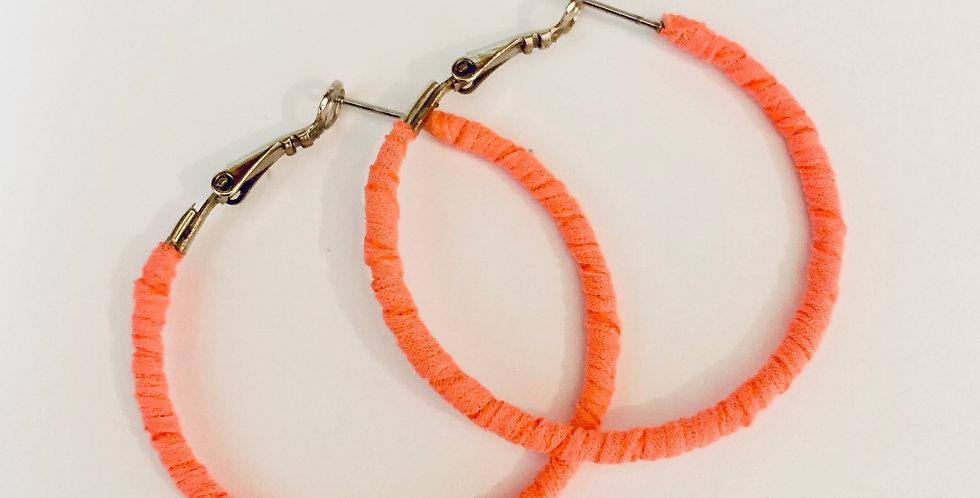 Neon Color Hoop Earrings
