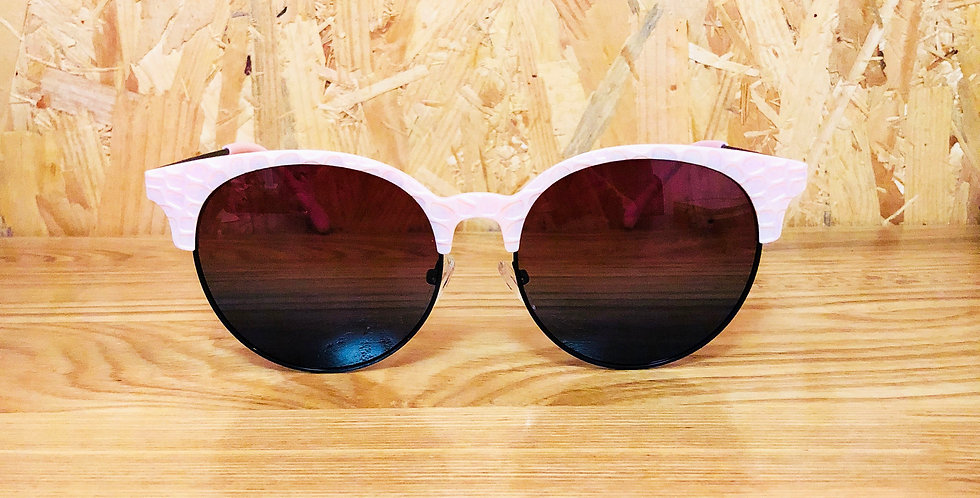 Pink Clubmaster Twin Colour Lenses Sunglasses