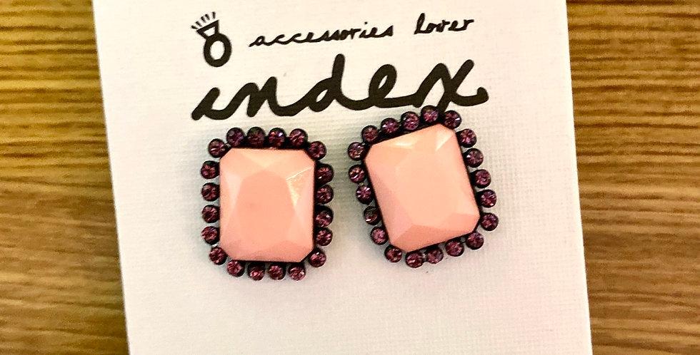 Pink Lady Stud Earrings