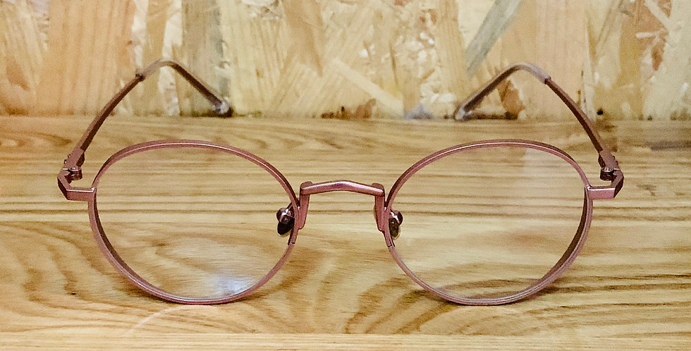 Matt Rose Gold Rounded Eyeglasses