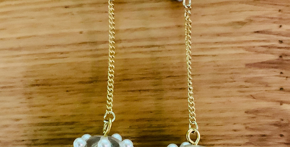 Beaded Long Drop Earrings