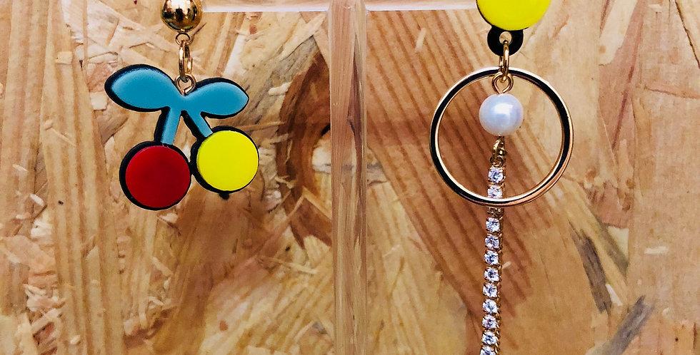 Cherry Resin Earrings