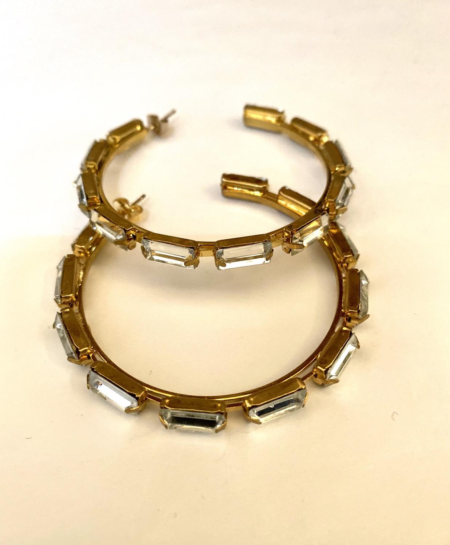 Big Hoop Crystal Earrings