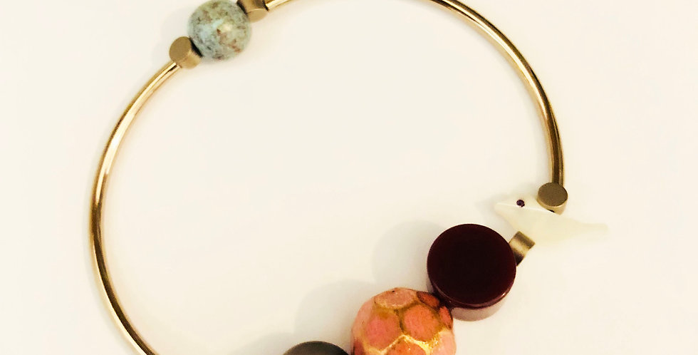 Shell birdie Stretch Bracelet