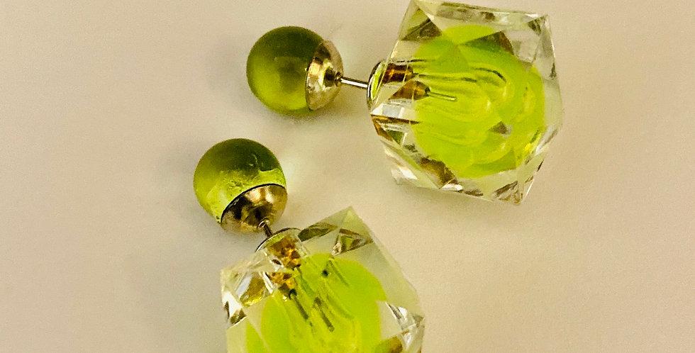 Diamond Cut Beam Ear Jacket Earrings