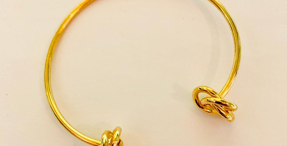 Golden Knot Bangle