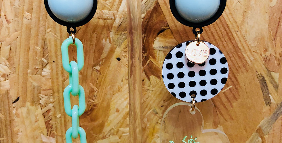Resin Love Heart Earrings