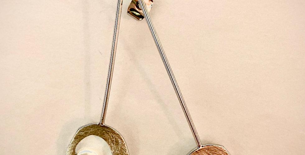 Silver Stick Pearl Earrings