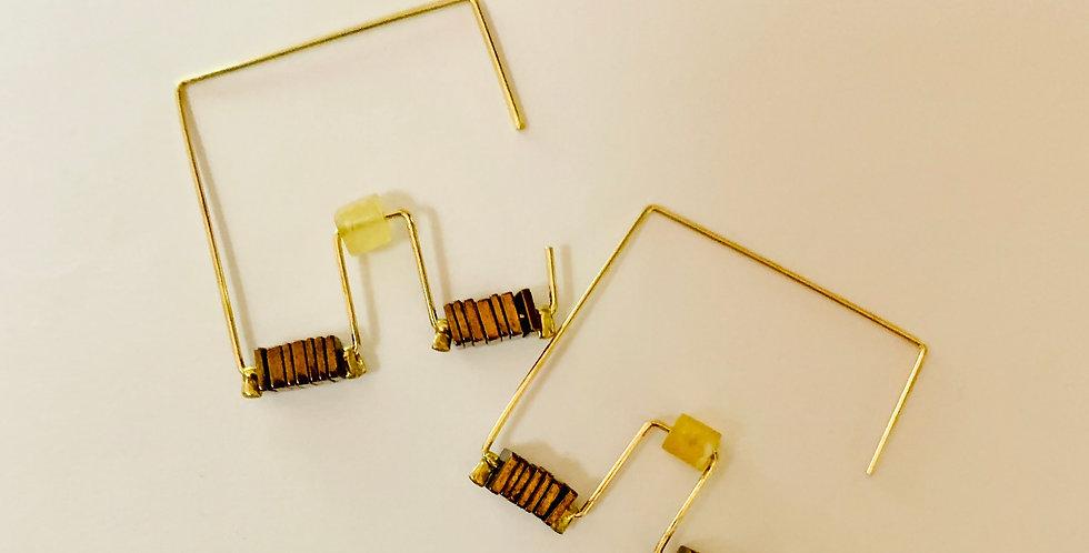 Stylish Squares Hoop Earrings