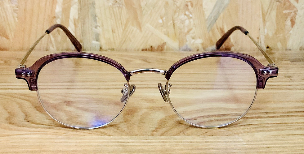 Purple Semi-Rim Eyeglasses