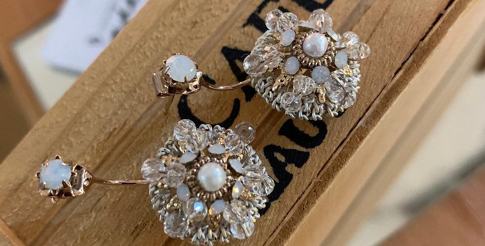 Filigree Crystal Drop Earrings