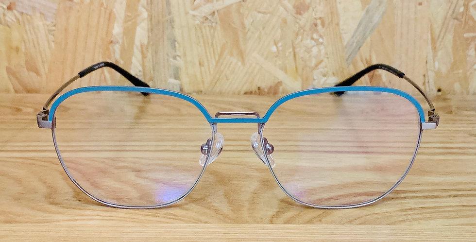 Aquamarine Blue Square Eyeglasses