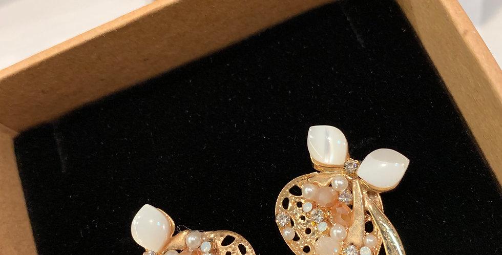 Bow Ribbon Stud Earrings