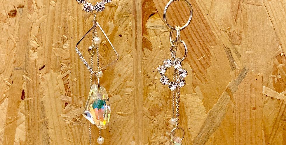 Shapes Silver Drop Earrings