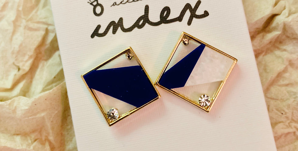 Square stylish Stud Earrings