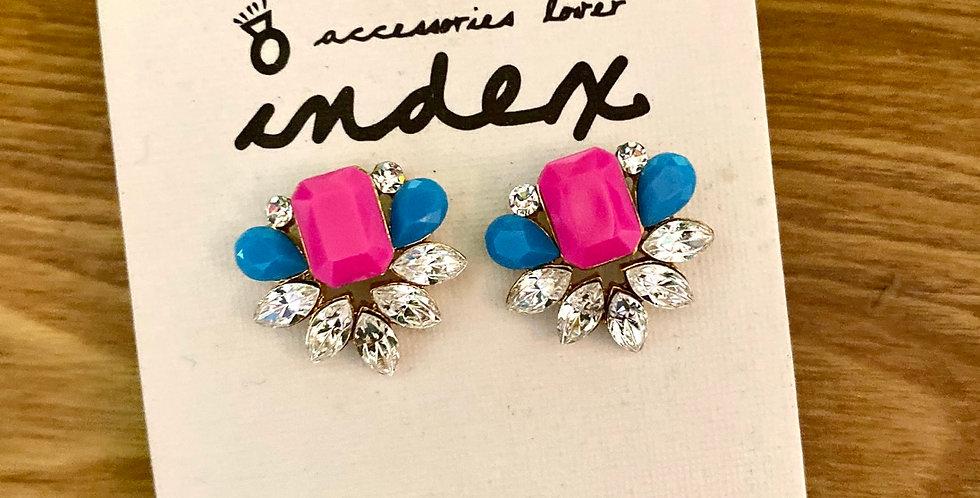Jewelled Resin Stud Earrings