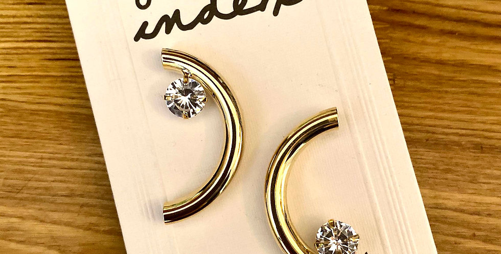 Golden C Stud Earrings