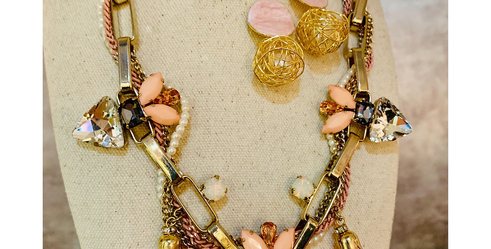Pink Bloom Statement Necklace