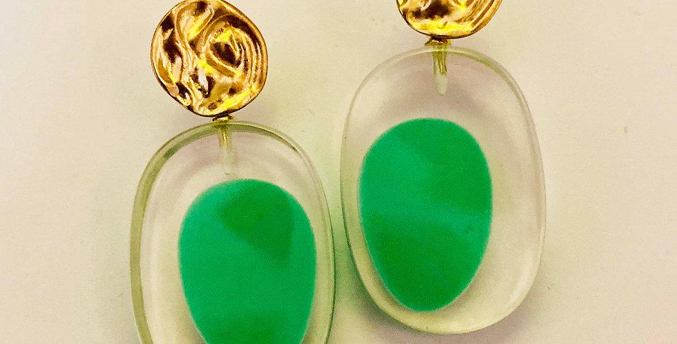 Fresh Green Resin Earrings