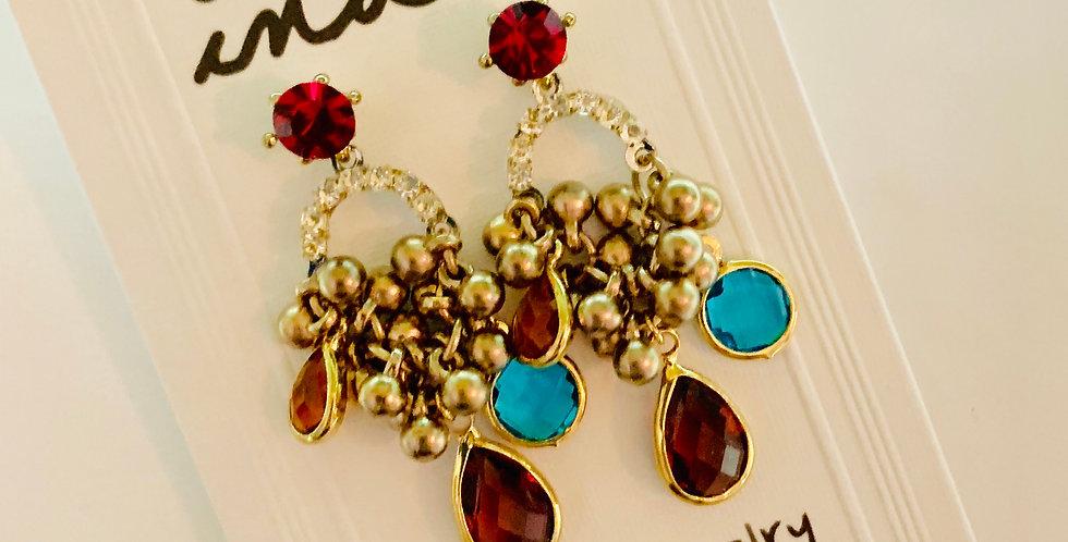 Crystals Short Drop Earrings